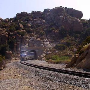Surfliner Through Santa Susana Pass Tunnel