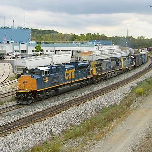 Eastbound with CSX 4838