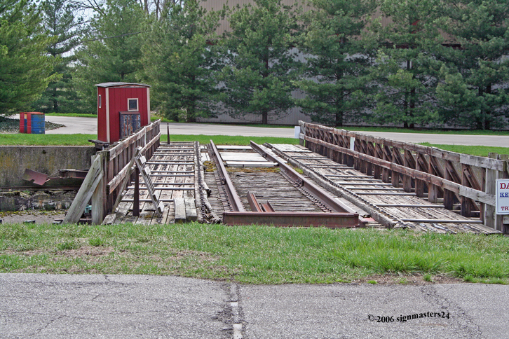 100\' turntable old 30 stall roundhouse Niles, MI