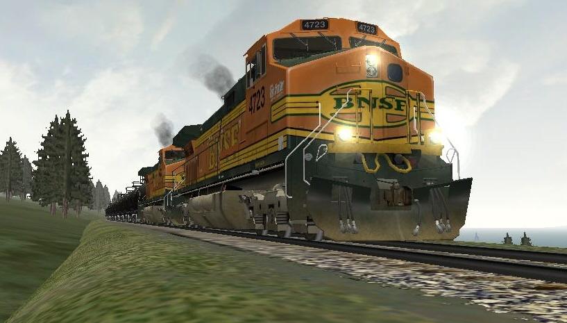 BNSF 4723 hurries towards Stryker   RailroadForums com