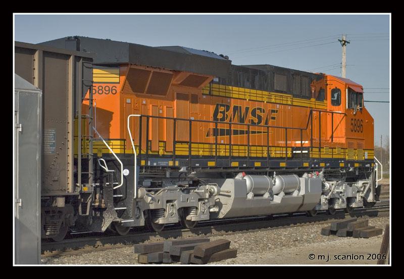 BNSF 5896 - ES44AC - M J  Scanlon   RailroadForums com